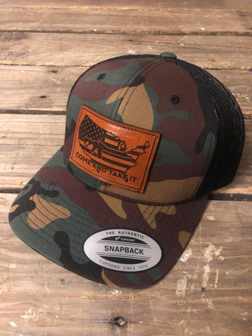 Come and Take It Leather Patch Cap