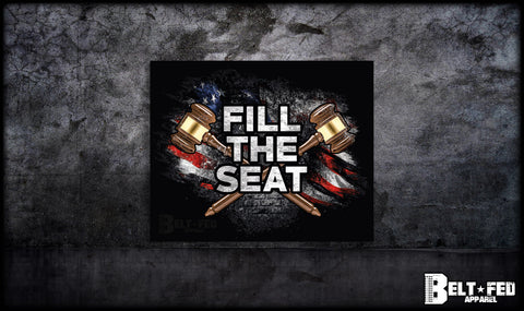 Fill The Seat Sticker