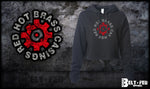 Red Hot Brass Crop Hoodie