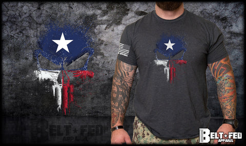 Texas Punisher Skull