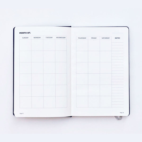 Optimistic Blue Planner