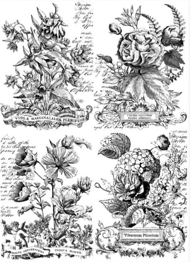 Classic Bouquets 24x33 Decor Transfer **paintable**