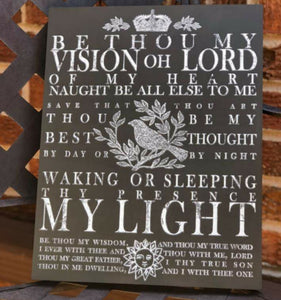 Be Thou My Vision Decor Transfer