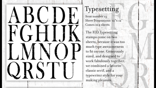 Type Setting Alphabet (2 sheets)