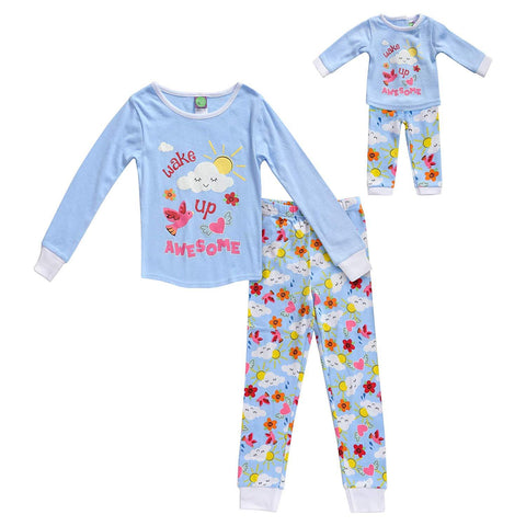 The Mommy and Me Pajama, Color - Blue Multicolor