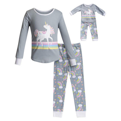 The Mommy and Me Pajama, Color - Gray