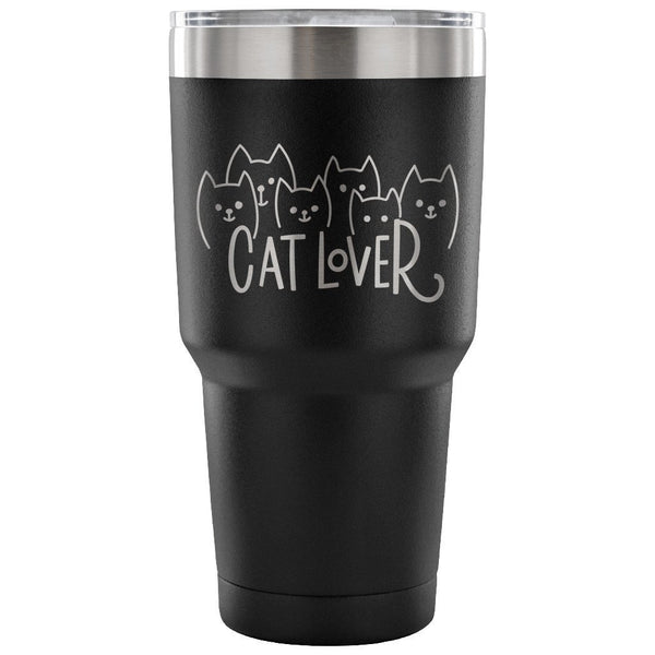 Mugz, Tumblerz & More Cat Lover 30 oz. Stainless Steel Tumbler/Travel Mug Black