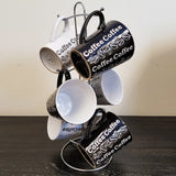 night-and-day-6 piece-coffee-mug-set-with-wire-rack-all-together-on-shelf