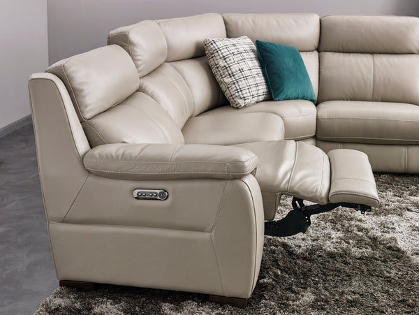 HomesToLife Symphony Leather Recliner Sofa