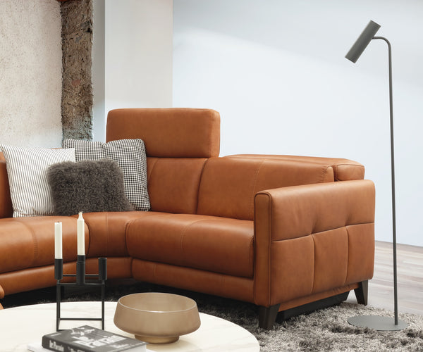 HomesToLife Harmonica Leather Recliner Sofa
