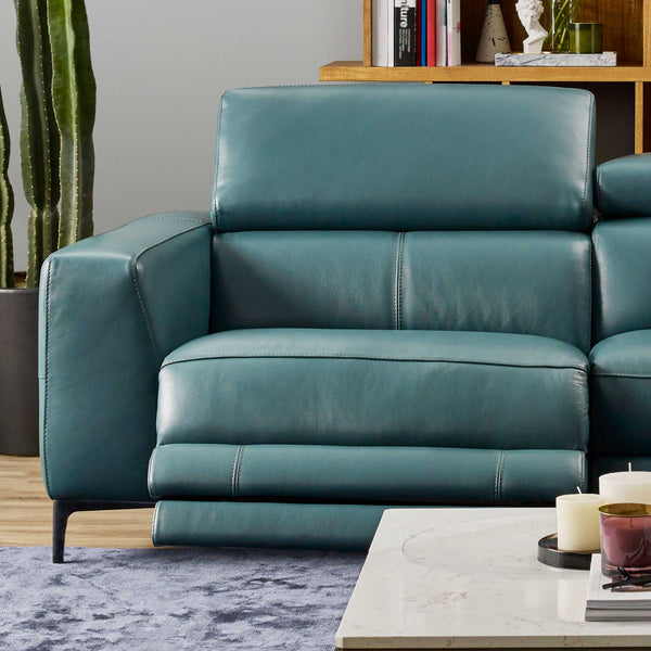 HomesToLife Mondrian Leather Recliner Sofa