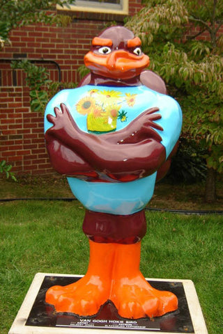 Van Gogh Hokie Bird