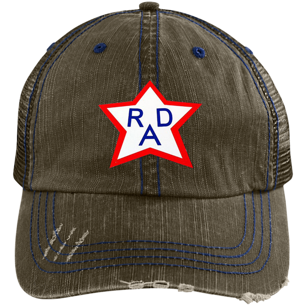 RAD 6990 Distressed Unstructured Trucker Cap