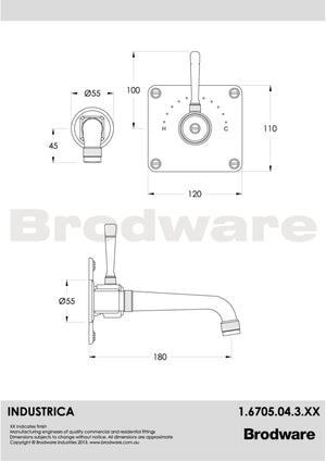 Industrica Wall Mixer