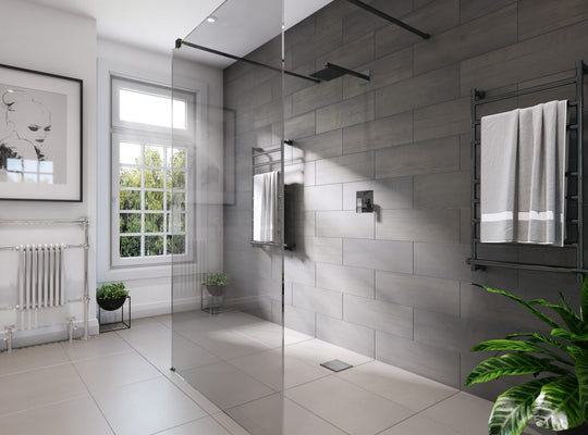 Freestanding shower panel