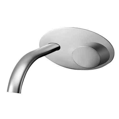 Ovo wall mixer with spout