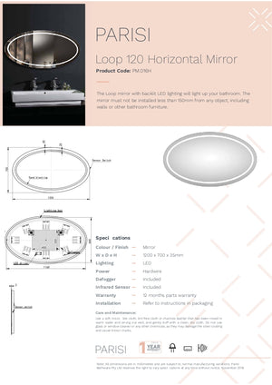 Loop 1200 Horizontal Mirror Led