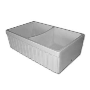 Butler Double Bowl Sink Ribbed