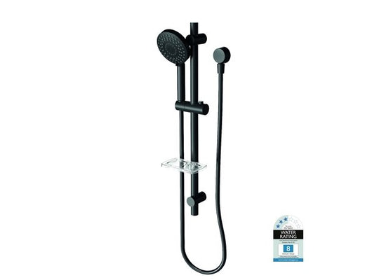 Vivid Matt Black Rail Shower