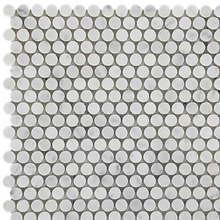 Carrara mosaic tiles