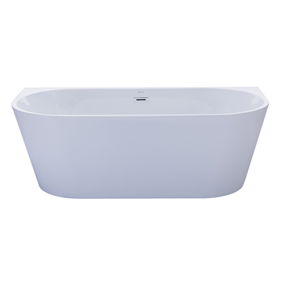 Verona oval back to wall bath