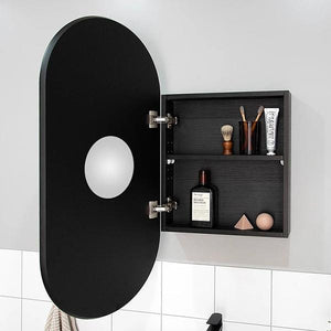 Pill mirror and shaving cabinet