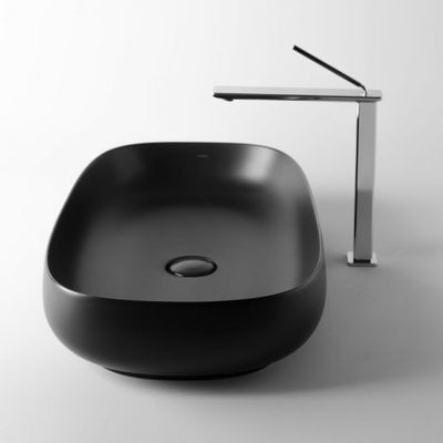 Seed 70 Matt Black above counter basin