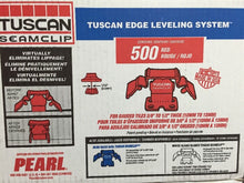 Tuscan seamclip red clip Levelling system