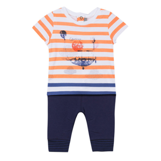 Catimini 2 Piece Tshirt/Pants Aircraft Orange