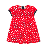 Jean Bourget Red Print Dress