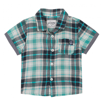 Jean Bourget Plaid Shirt Turquoise
