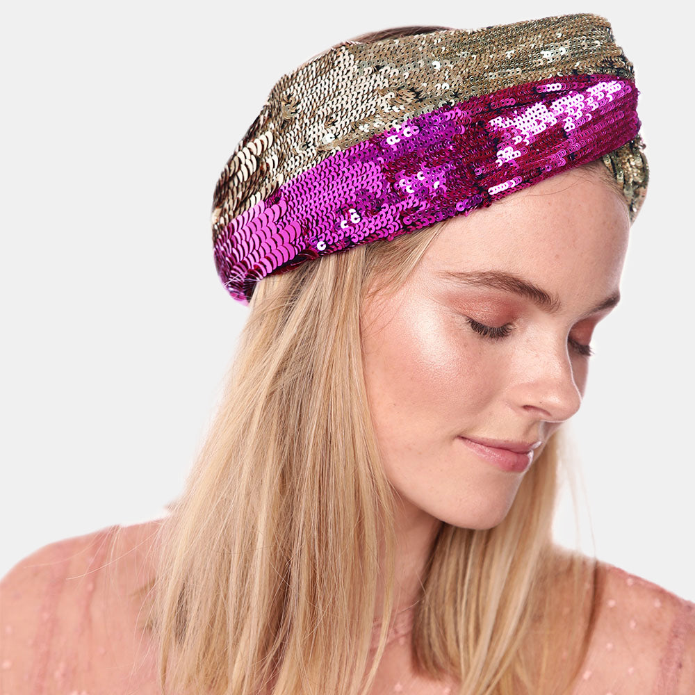 luxury sequin headband by Maryjane Claverol