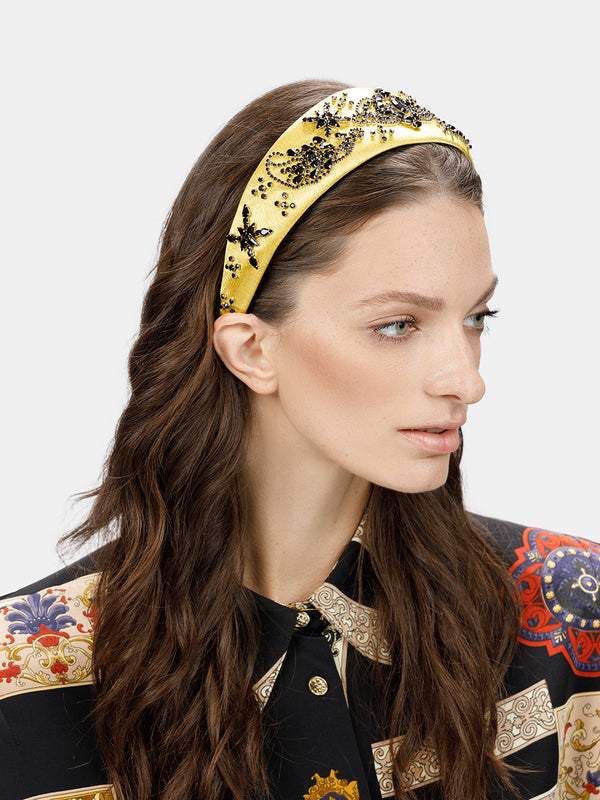 embellished luxury headband designed by MARYJANE CLAVEROL