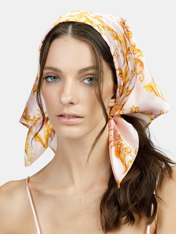 Printed head scarf designed by Maryjane Claverol