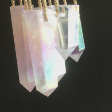 Load and play video in Gallery viewer, Rose Quartz Aura Point Classic Necklace