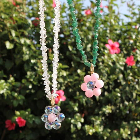 Daisy Quartz Necklace (5960482717896)