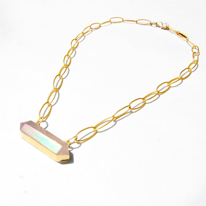 Aura Quartz Necklace (4511196905581)