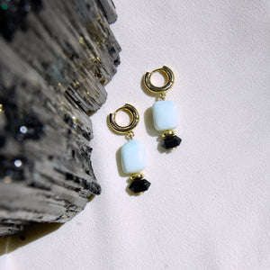 Green Opal Protection Earrings