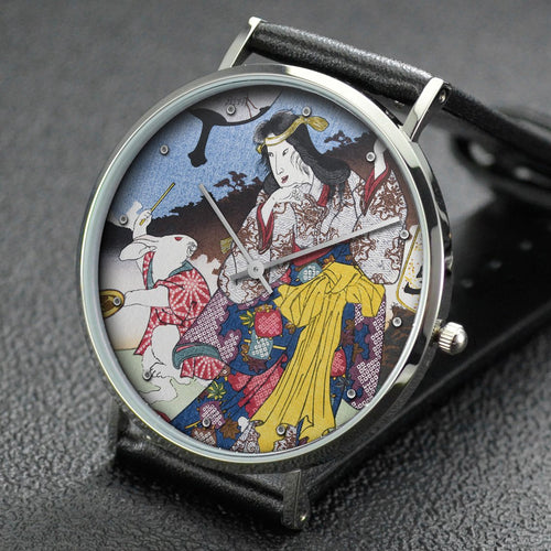 Utagawa Kuniyoshi wrist watch ─ Rabbit (U): the Mountain Witch of the Ashigara Mountains