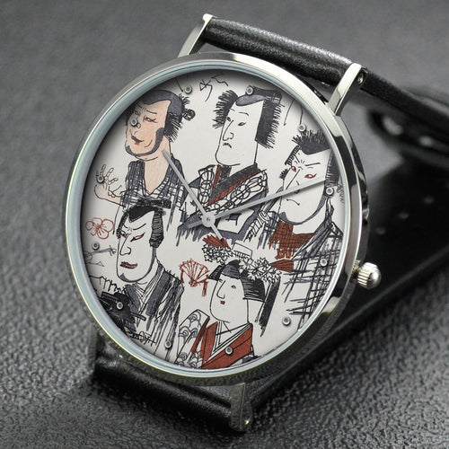 Utagawa Kuniyoshi wrist watch ─ Actor Caricatures, from the series Scribbles on a Storehouse Wall