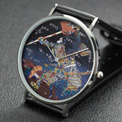 Utagawa Kuniyoshi wrist watch ─ The last stand of the Kusunoki at Shijonawate