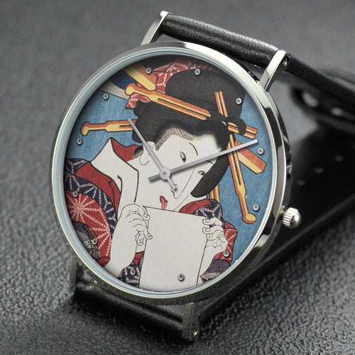 Utagawa Kuniyoshi wrist watch ─ Number 13: Jelly-fish from the province of Bizen