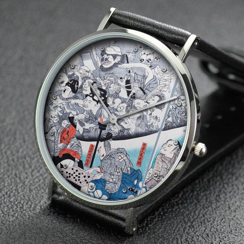 Utagawa Kuniyoshi wrist watch ─ Warrior Minamoto Raiko and the Earth Spider
