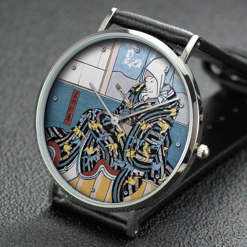 Utagawa Kuniyoshi wrist watch ─ Actor in the role of Ashikaga Yorikane in a Soga Brothers Play
