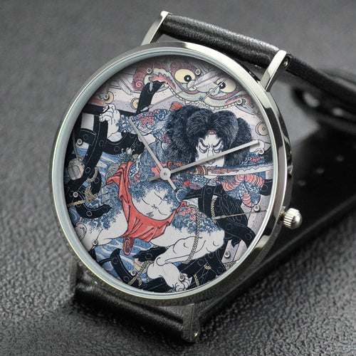 Utagawa Kuniyoshi wrist watch ─ Zhang Shun, the White Streak in the Waves