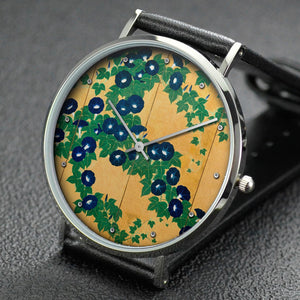 Suzuki Kiitsu wrist watch ─ Morning Glories (Left side)