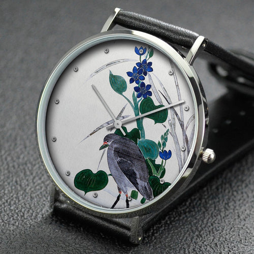 Suzuki Kiitsu wrist watch ─ Flowers and Bird