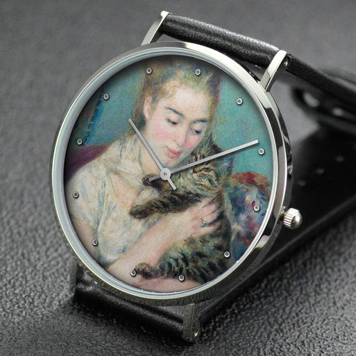 Pierre-Auguste Renoir wrist watch ─ Woman with a Cat