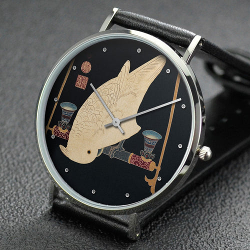 Ito Jakuchu wrist watch ─ A White Macaw