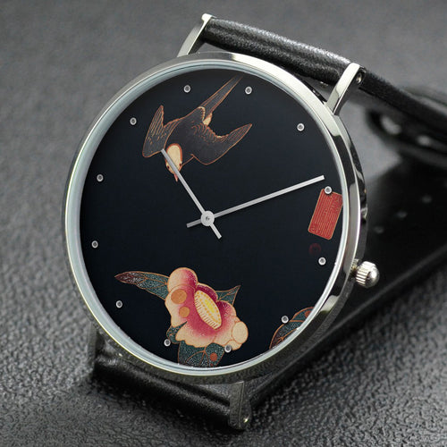 Ito Jakuchu wrist watch ─ Swallow and Camellia